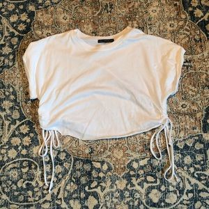 Forever 21 Tops - Cropped cinched t shirt